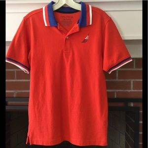 NWOT Boys Nautica polo shirt, Sz L (14/16)
